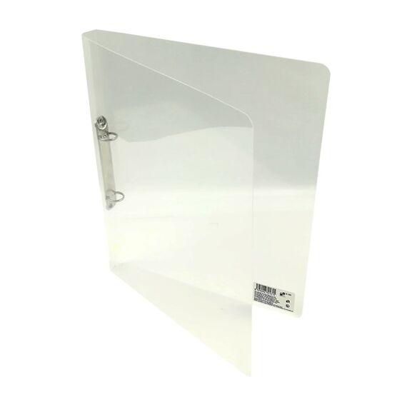 Gyűrűskönyv A/4 PP 20mm 2 gyűrű átlátszó fehér