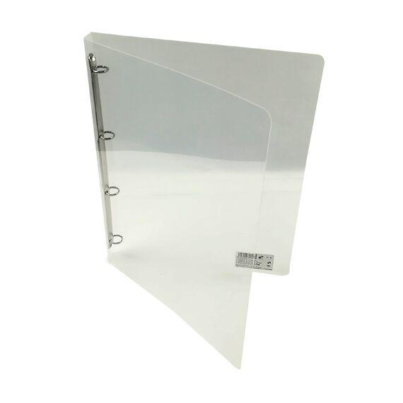 Gyűrűskönyv A/4 PP 20mm 4 gyűrű átlátszó fehér