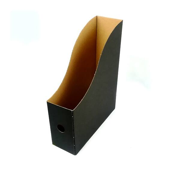 Irattartó papucs FORTUNA papír fekete