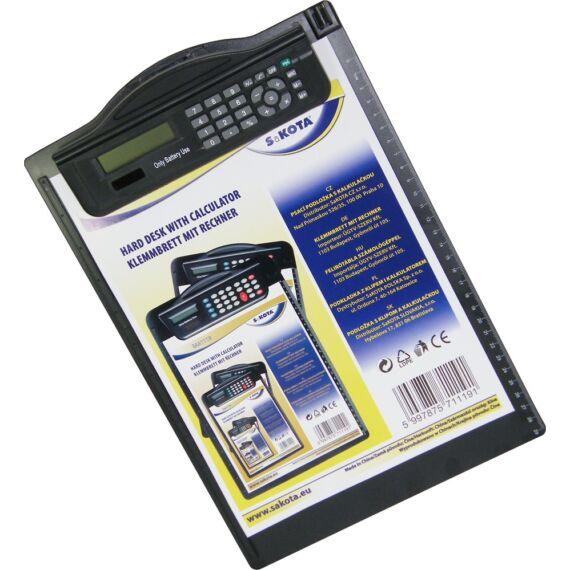 Felírótábla számológéppel A/4 műanyag csipeszes