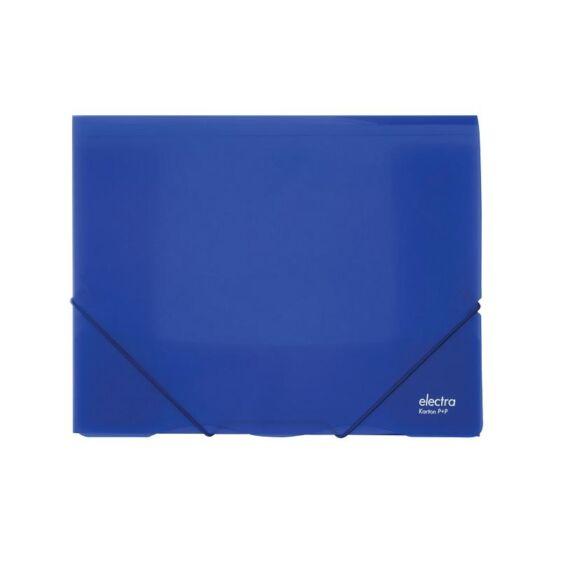 Gumis mappa ELECTRA A/4 műanyag kék