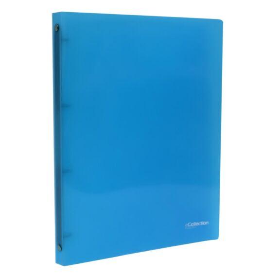 Gyűrűskönyv E-COLLECTION A/4 pp 4 gyűrű kék