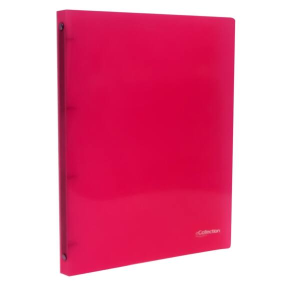 Gyűrűskönyv E-COLLECTION A/4 pp 4 gyűrű pink