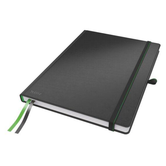 Jegyzetfüzet LEITZ Complete A/4 80 lapos kockás fekete