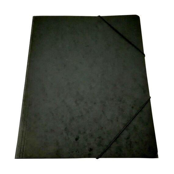 Gumis mappa prespán fekete 345gr