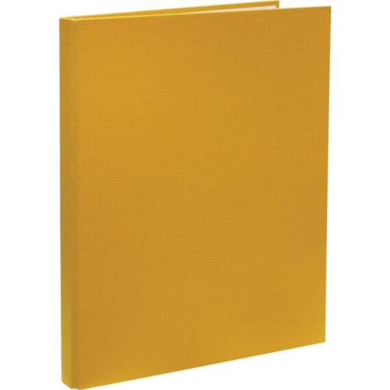 Mappa villámzáras OPTIMA A/4 karton sárga