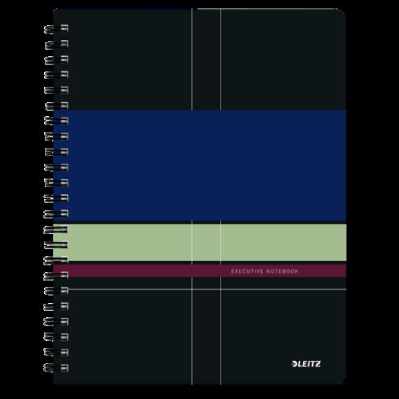 Spirálfüzet LEITZ Executive Project A/4 PP 80 lapos vonalas