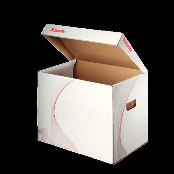 Archiváló konténer ESSELTE Standard karton felfelé nyíló fehér 398x302x280mm